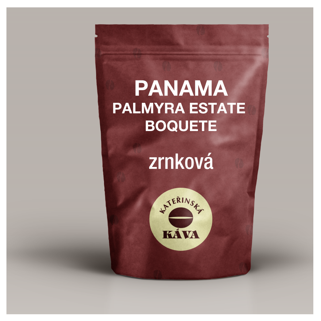 PANAMA PALMYRA ESTATE BOQUETE, Odrůda CATUAI  (výběrová Káva) – Zrnková